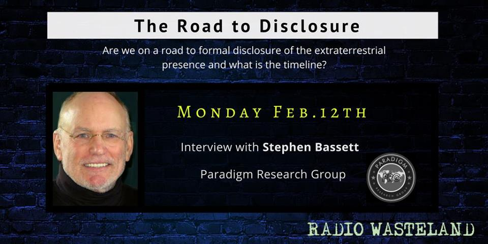 Radio Wasteland #50 Stephen Bassett and the Paradigm Research Group